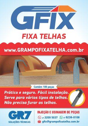 Grampo Fixa Telhas Universal Gfix – Pacote com 100 unidades